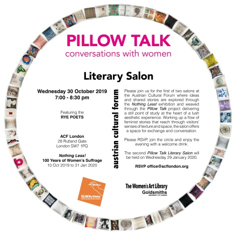 Literary Salon Wed 30 Oct 2019